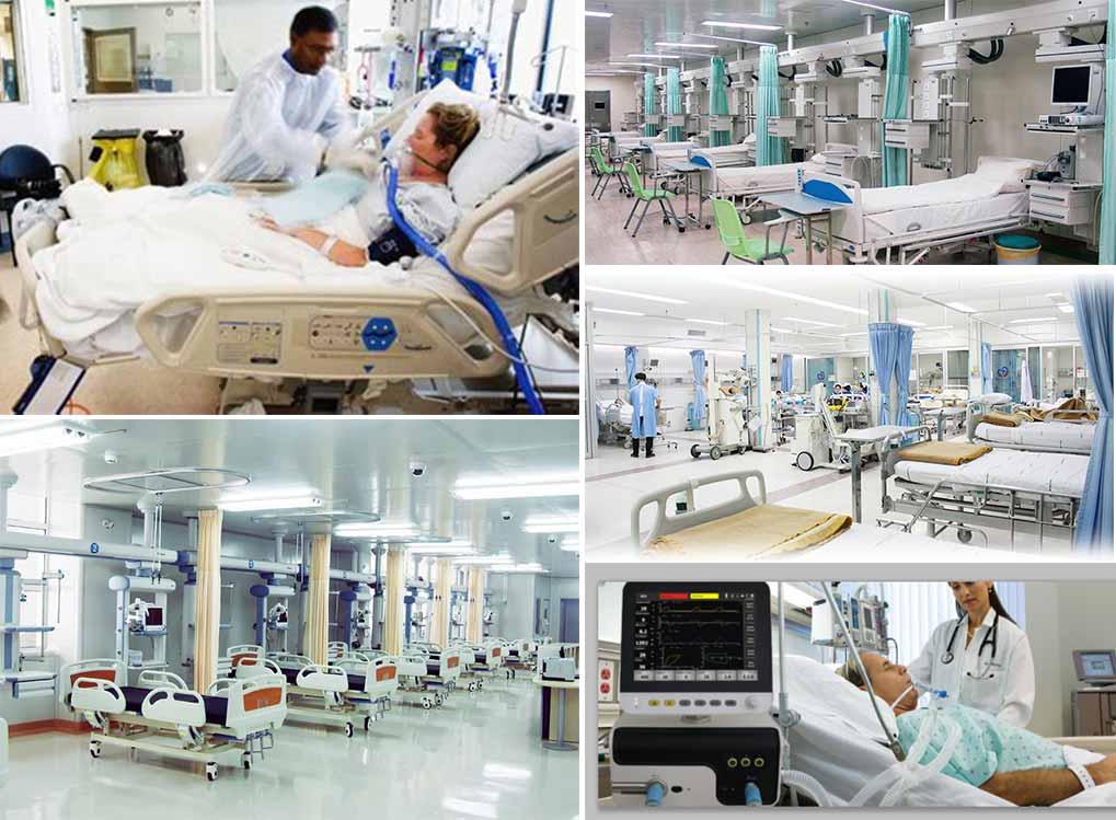 Unidades de cuidados intensivos-ICU (SICU, MICU, EICU, AICU, RICU, CCU, NICU, BICU)